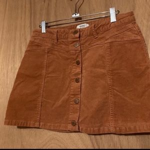 Like New Forever 21 Corduroy Button Down Skirt